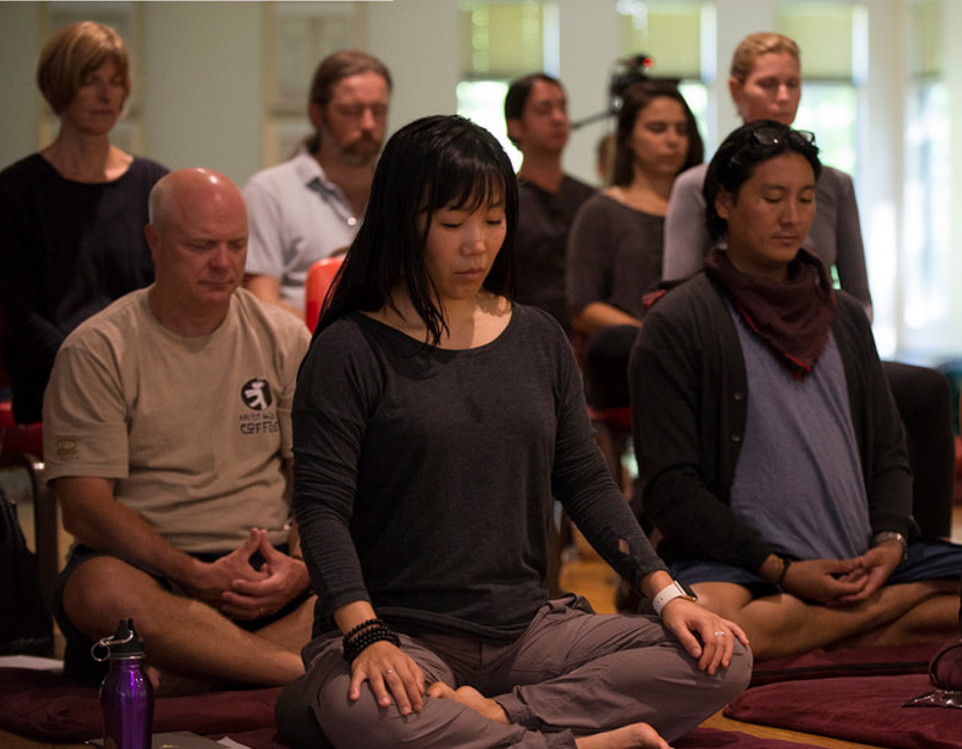 Nalanda Institute meditation. photo by Darren Ornitz